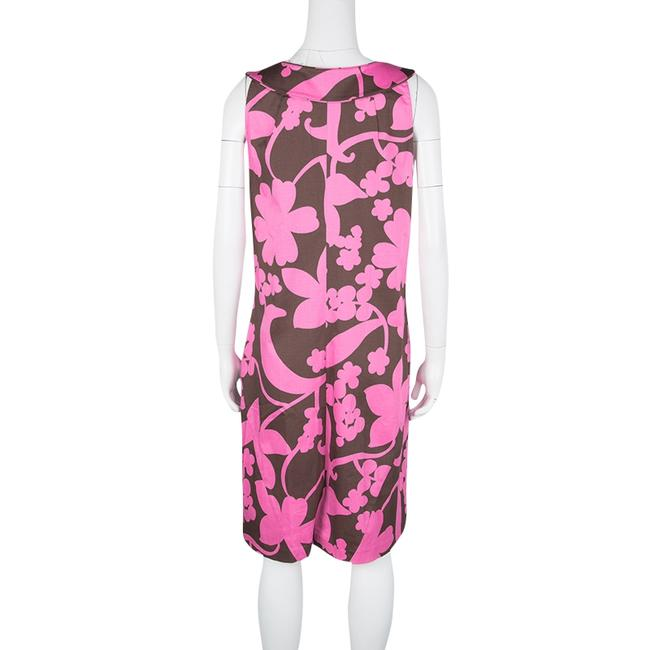 Tory Burch short dress Brown Floral Cotton Sleeveless on Tradesy Image 2