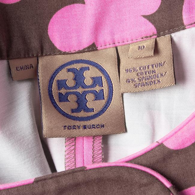 Tory Burch short dress Brown Floral Cotton Sleeveless on Tradesy Image 4