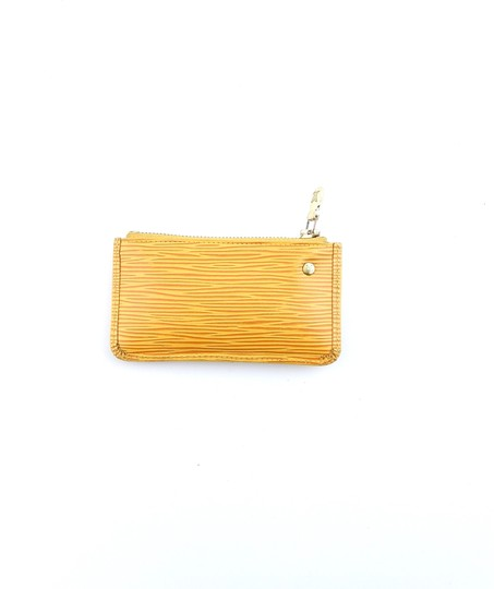 Louis Vuitton Pochette Cles Epi Coated Leather Credit Coin Purse Keychain Image 1