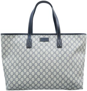ef394ecaeef Gucci Medium Gg Supreme Canvas Tote in Beige and ebony