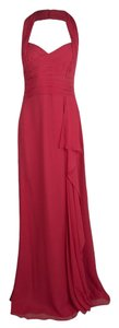 Red Maxi Dress by Marchesa Notte Silk Halter Chiffon