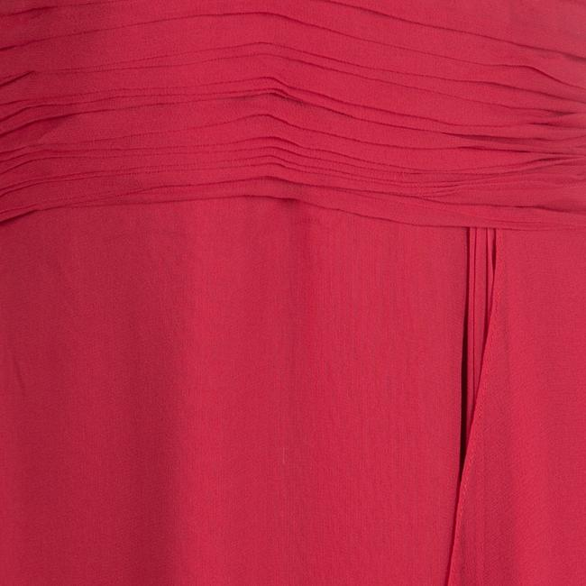 Red Maxi Dress by Marchesa Notte Silk Halter Chiffon Image 3