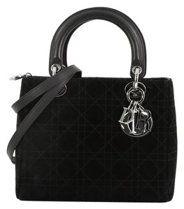Dior Christian Suede Tote in Black