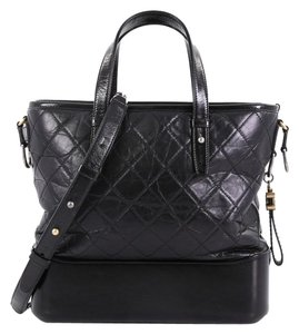 Chanel Gabrielle Calfskin Tote in Black