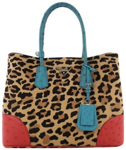 Prada Calf Hair Tote in multicolor