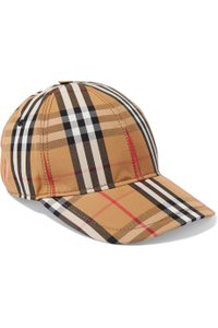 Burberry Checked cotton-canvas baseball cap L