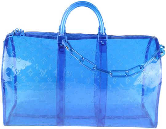 Preload https://img-static.tradesy.com/item/25294473/louis-vuitton-keepall-rare-50-bandouliere-blue-pvc-weekendtravel-bag-0-1-540-540.jpg
