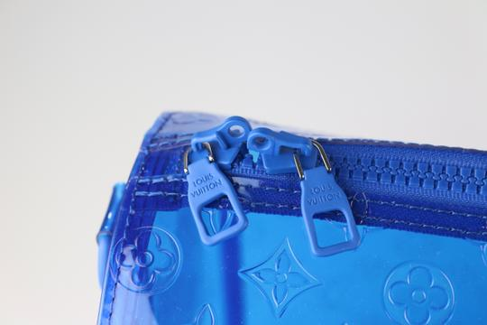Louis Vuitton Prism Keepall Prism Virgil Keepall Rare Keepall Blue Travel Bag Image 4