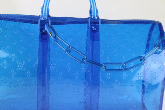 Louis Vuitton Prism Keepall Prism Virgil Keepall Rare Keepall Blue Travel Bag Image 9