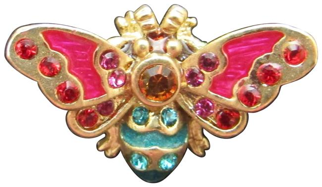 Item - Multicolor Box & Enameled Bee Pin New In