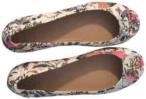 Tory Burch white, multi-colored patterns. Flats