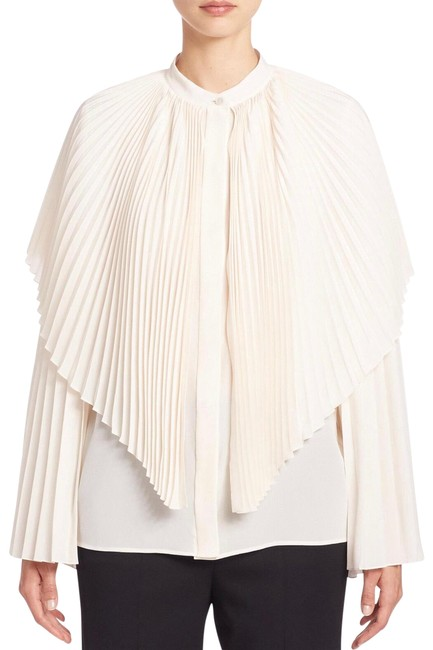 Preload https://img-static.tradesy.com/item/25294848/stella-mccartney-natural-silk-cape-blouse-size-0-xs-0-1-650-650.jpg