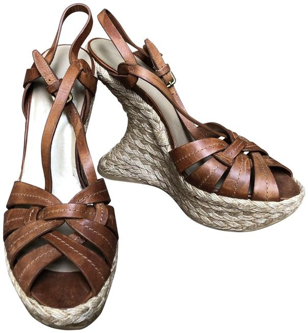 Item - Brown Platform Wedge Sandals Size US 8 Narrow (Aa, N)