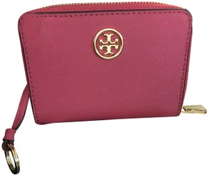 Tory Burch Tory Burch Zippy Coin Purse Wallet hot pink color