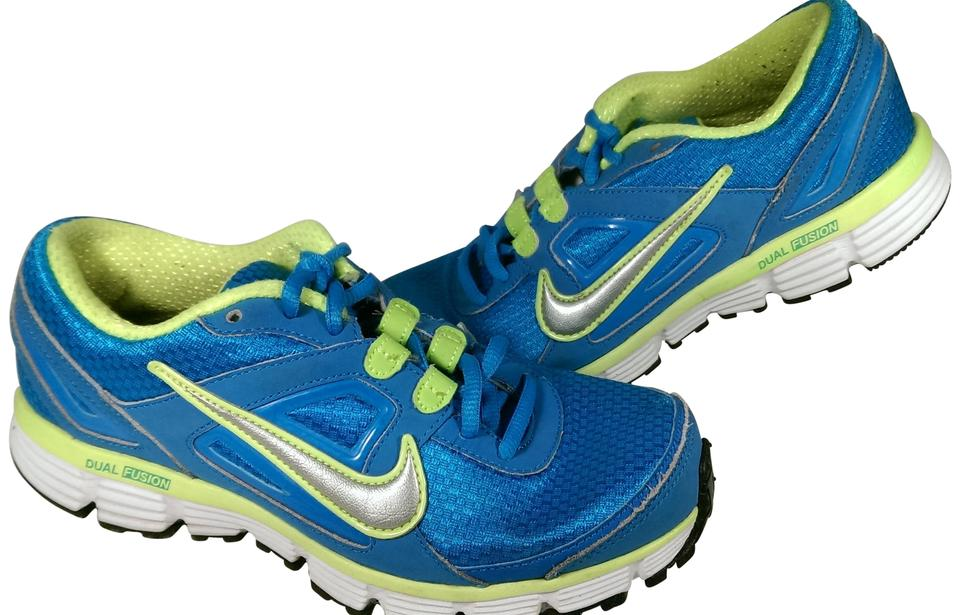new product 57dad 6cfbc Nike Blue Green Yelow Woman's Dual Fusion St 407847-401 Running Sneakers  Size US 7 Regular (M, B) 57% off retail