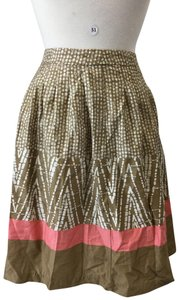 George Skirt Brown Pink White