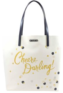 Kate Spade Purse Cheers Champagne Tote in beige