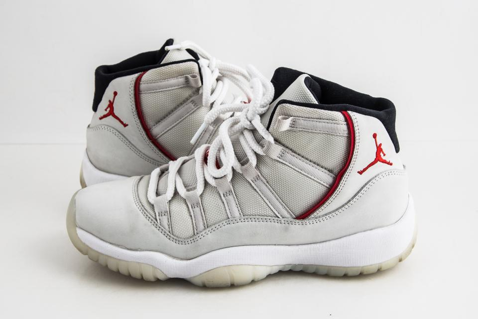 separation shoes 4d1a5 5dde8 Nike White Air Jordan 11 Retro (Gs) Platinum/Red Shoes 20% off retail