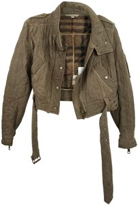 Burberry Brit Quilted Cropped Motorcycle Jacket