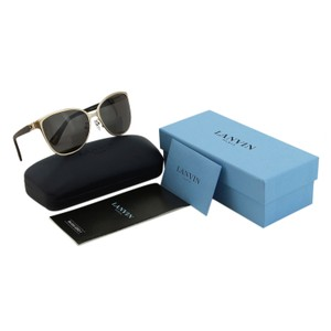 fcb72865b9 Lanvin New SLN 048 Metal   Wooden Textured Temples Wayfarer Women Sunglasses