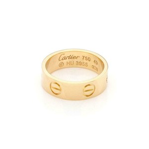 Cartier Love 18k Yellow Gold 5.5mm Band Ring Size 49-US 5 w/Cert
