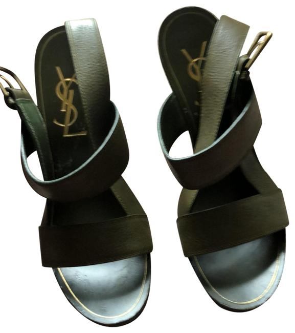 Item - Army Green Ysl Sandals Size US 8 Regular (M, B)