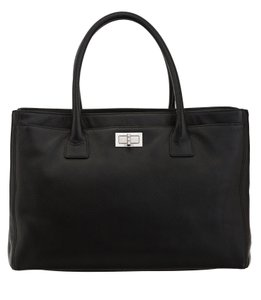 Chanel Caviar Leather Classic Cerf Caviar Leather Tote in Black