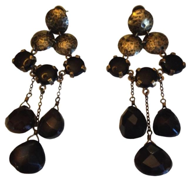 Item - Brass & Black Onyx Earrings