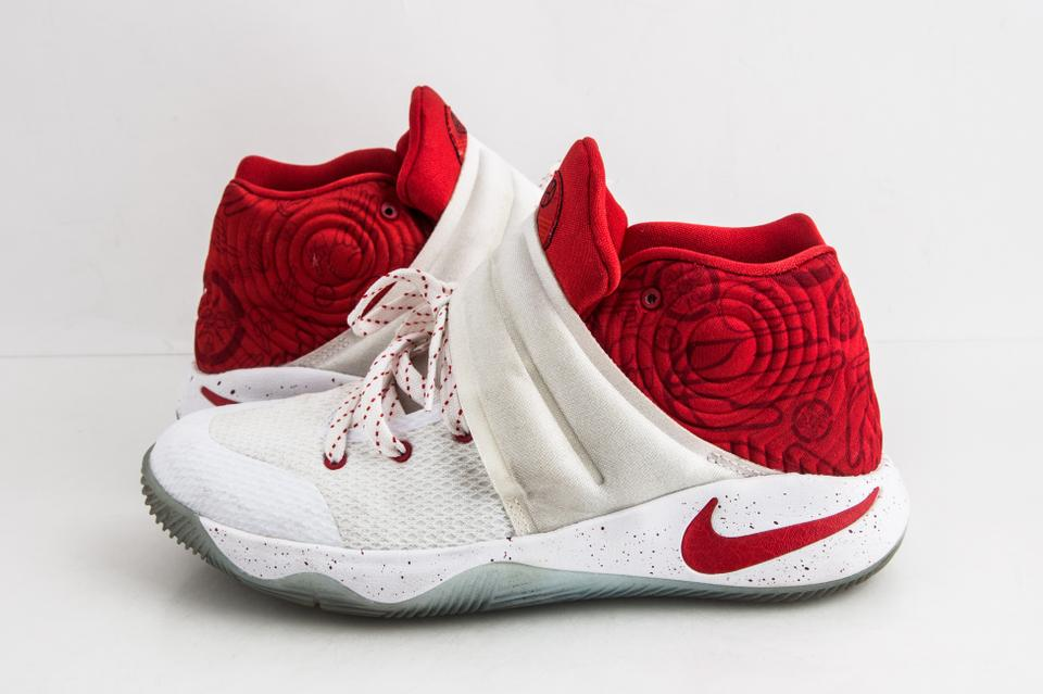 best loved 72832 83d7c Nike White Kyrie 2 Gs Touch Factor Red/White Shoes 36% off retail