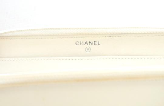 Chanel Chanel Black & White Zip Around Quilted Leather Wallet 2 Image 5