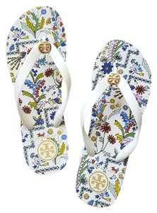 Tory Burch Ivory/Meadow Sweet Allover Sandals