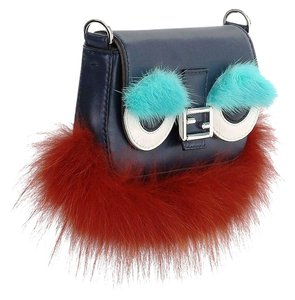 Fendi Real Fur Made In Italy Monster Luxury Designer Cross Body Bag
