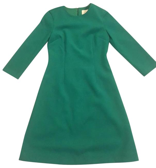 Item - Green Long Sleeve Wool Mid-length Cocktail Dress Size 2 (XS)