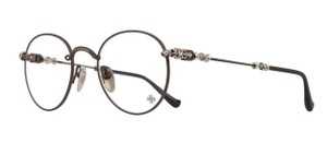 Chrome Hearts New CHROME HEARTS Eyeglasses BUBBA-A CB-P 49-22 Chocolate Brown Frame