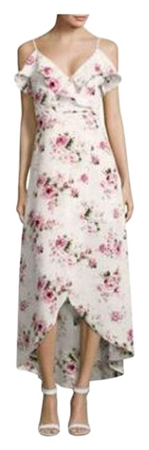 Item - White/Multi Floral Print Ruffle Faux Wrap Mid-length Casual Maxi Dress Size 6 (S)