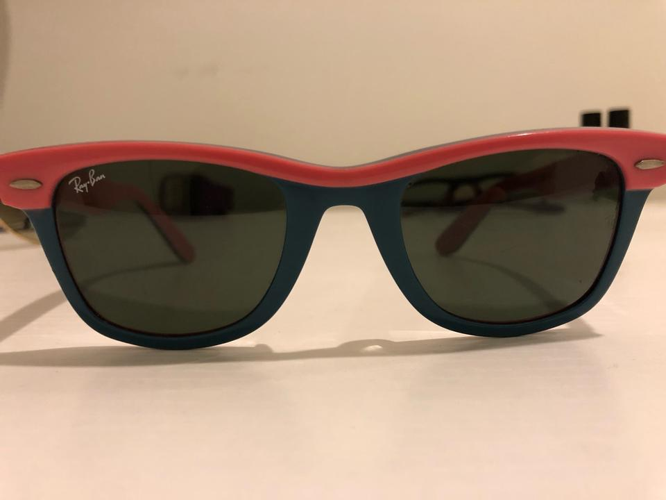 b2dc1187b431a Ray-Ban Pink with Blue Accents Rb2143 Sunglasses - Tradesy