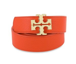 Tory Burch And Gold Reversible Leather Belt