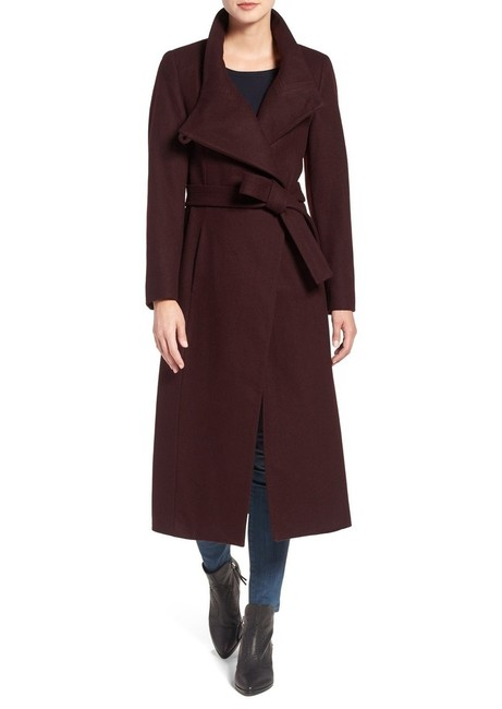 Item - Burgundy Maxi Wrap Coat Size 8 (M)
