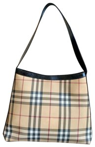 Burberry London Leather Pvc Tote in Beige, Black