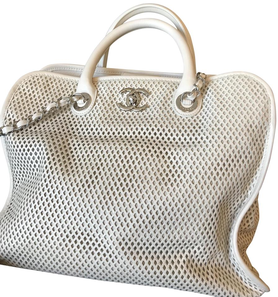 37122e635485 Chanel Bag Up In The Air Ivory White Leather Tote - Tradesy