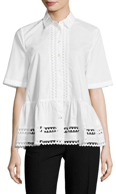 Preload https://img-static.tradesy.com/item/25297970/kate-spade-white-lace-inset-peplum-button-down-top-size-6-s-0-1-650-650.jpg