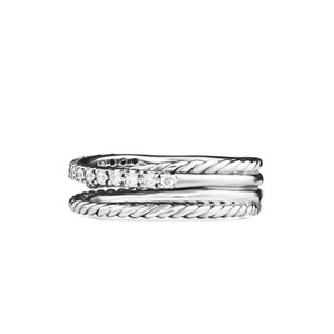 David Yurman David Yurman Crossover Ring with Diamonds