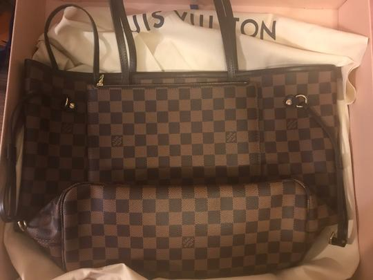 Louis Vuitton Monogram Leather Luxury European Limited Edition Tote in brown Image 7