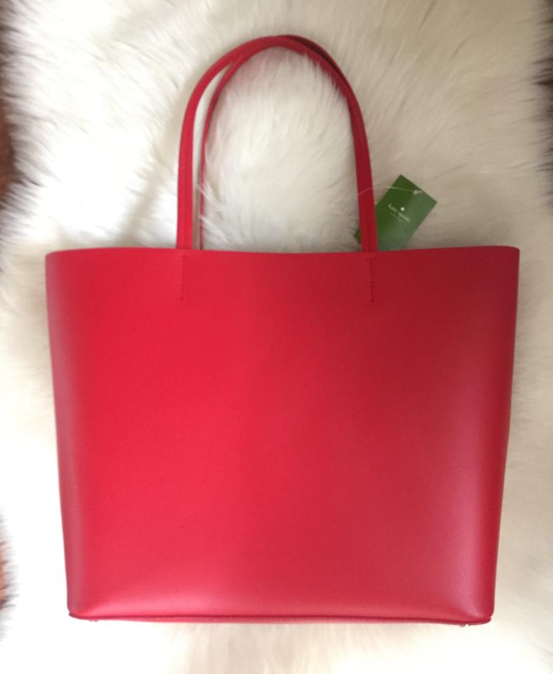 d02d2a04344 Kate Spade Lil Len Pig Novelty Red Leather Tote 48% off retail
