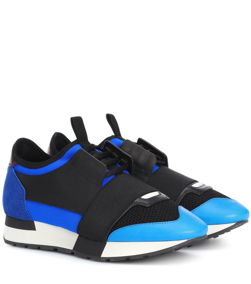 b1006f66e6928 Balenciaga Triple Sneaker Trainer Leather Distressed Blue Athletic Image 0  ...