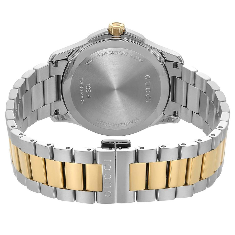 d24368745f0 Gucci G-Timeless 38mm Silver Dial Two Tone Stainless Steel YA126450 Unisex  Image 4. 12345