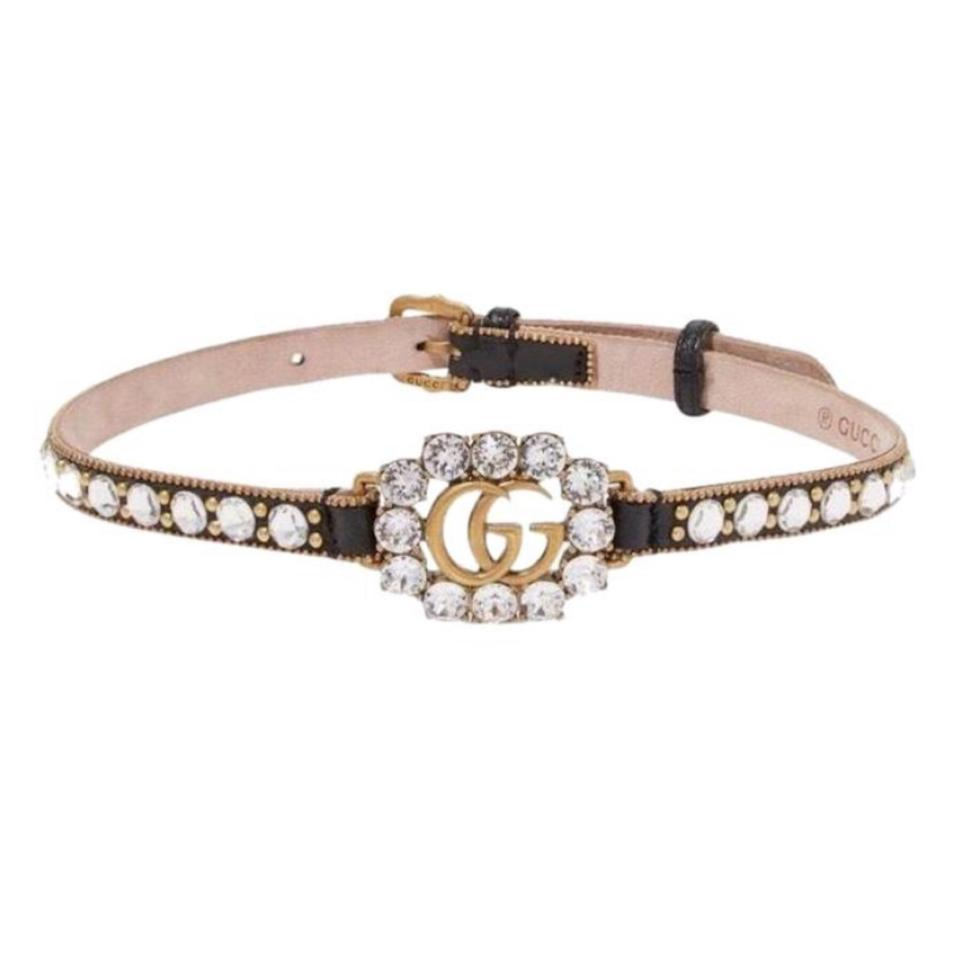 ee94e79fa Gucci Crystal Gg Logo Embellished Choker Necklace - Tradesy