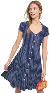 Anthropologie short dress Blue Polka Dot on Tradesy