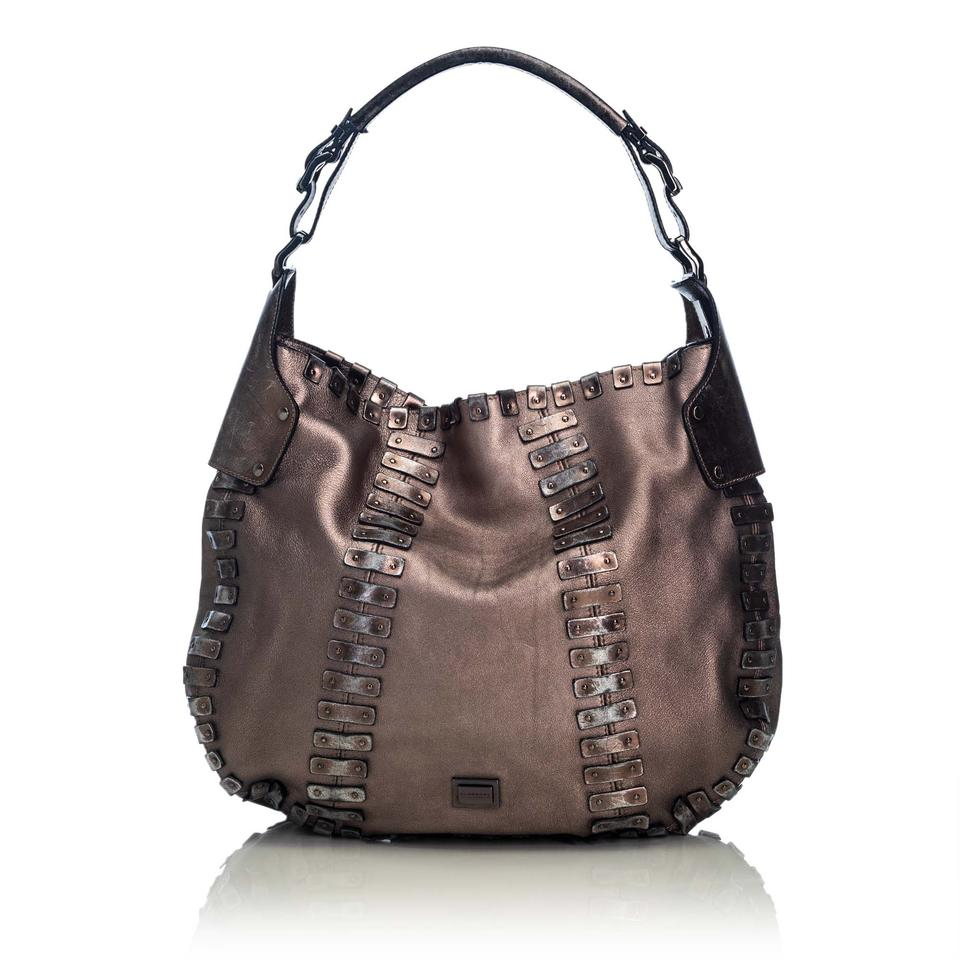 2924f222b Burberry Embellished Italy Large Brown Leather Hobo Bag - Tradesy