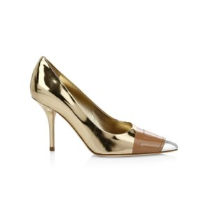 Burberry Gold Silver Pumps